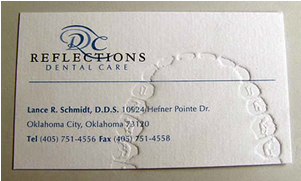dentists business card