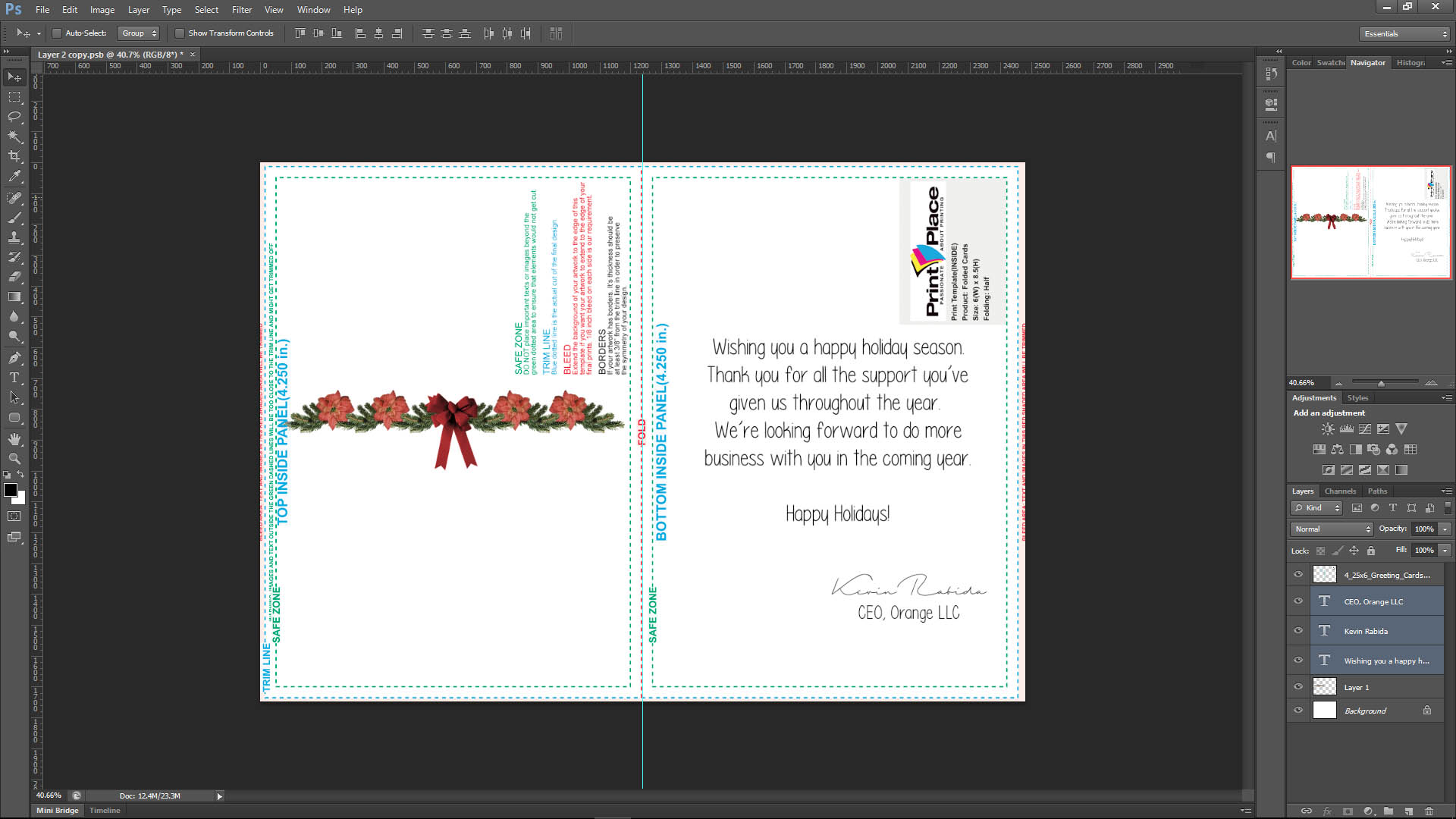custom greeting cards template