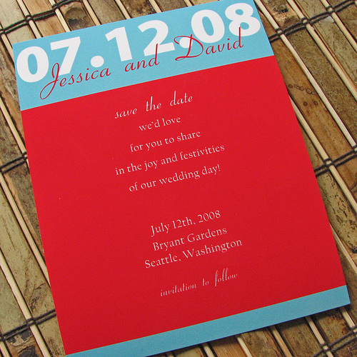 Be Bold Save the Date Cards