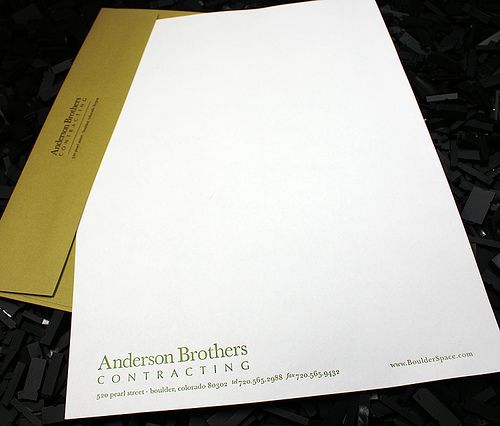 Letterpress Letterhead & Envelope: ABC
