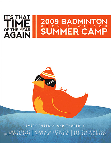 Badminton Summer Camp Flyer