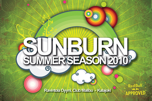 Sunburn Summer Season 2010 Flyer