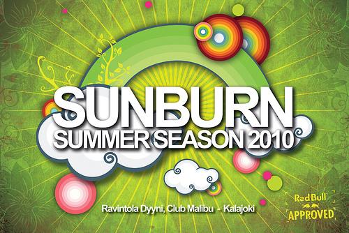 Sunburn Summer Season 2010 Flyer