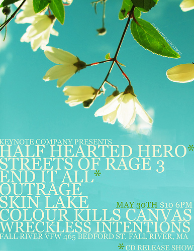 Half Hearted Hero Flyer