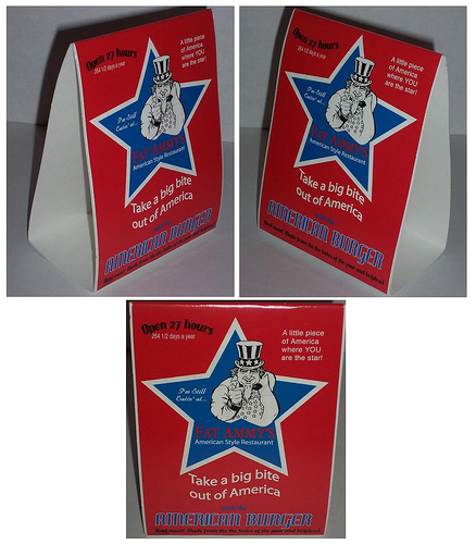 Fat Ammy's American Style Restaurant Table Tents