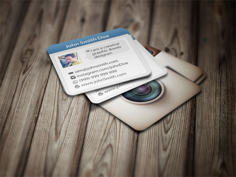 Rounded corner square business card designs