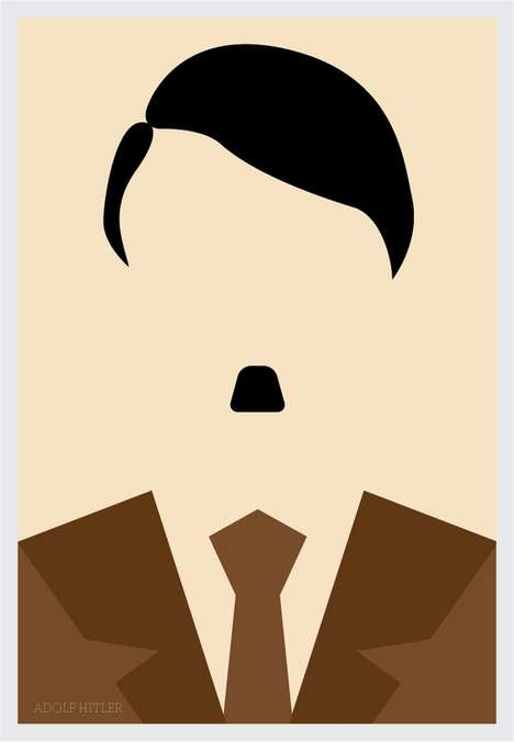 Minimalist Portraits - Adolf Hitler