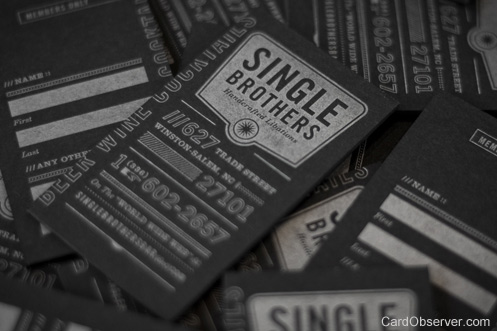 Single Brothers Bard Business Card