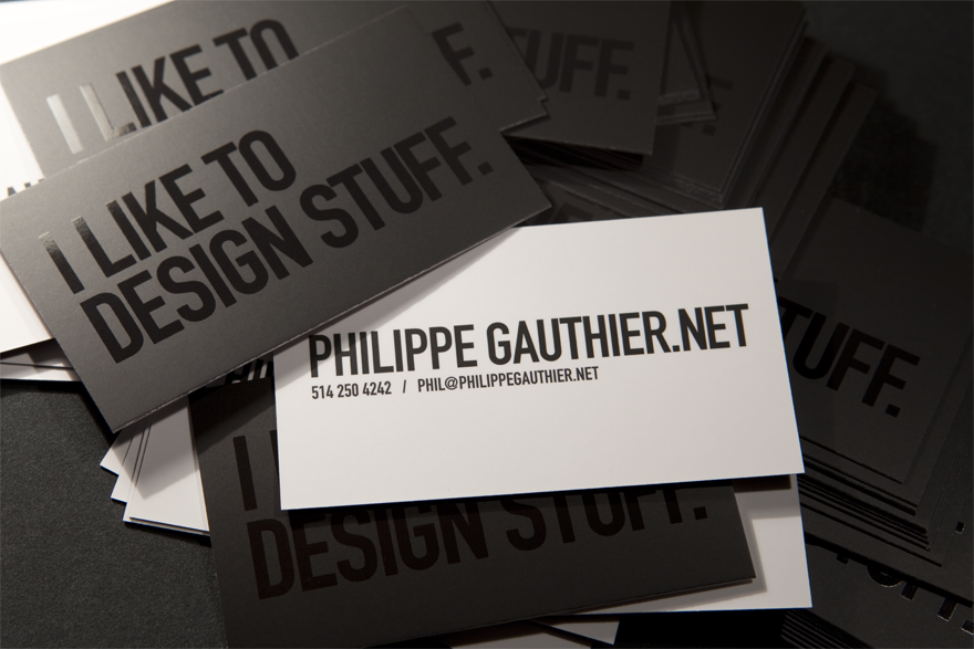 Philippe Gauthier Business Card