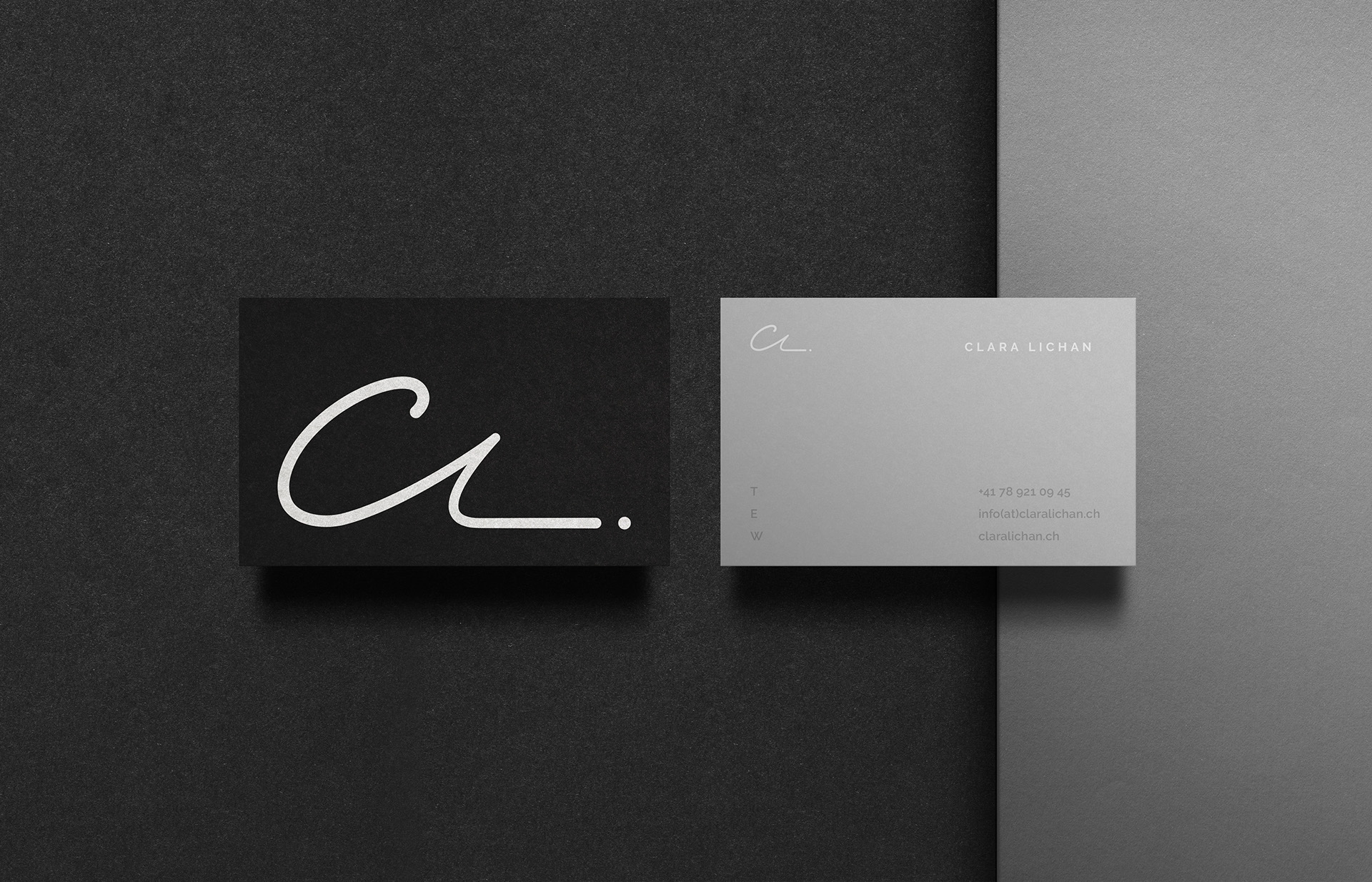 15 inspiring black and white business cards printplace clara lichan magicingreecefo Gallery