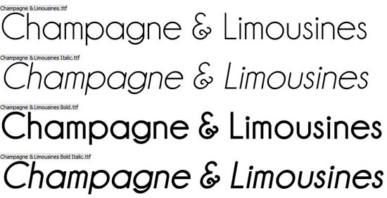 20 Free Fonts for Fabulous Business Cards - Champagne and Limousines