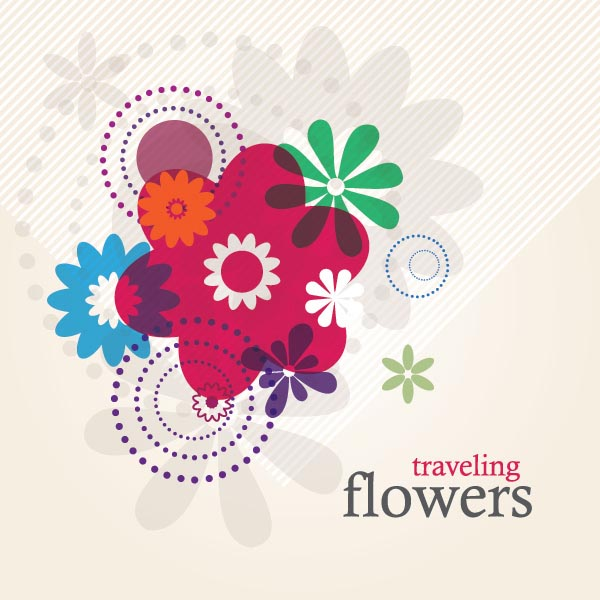 Traveling Flowers Vector Graphics