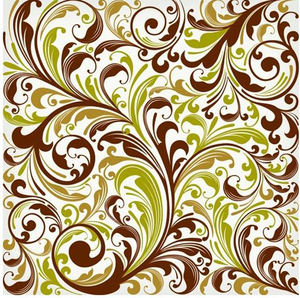 Floral Swirl Vector Graphics