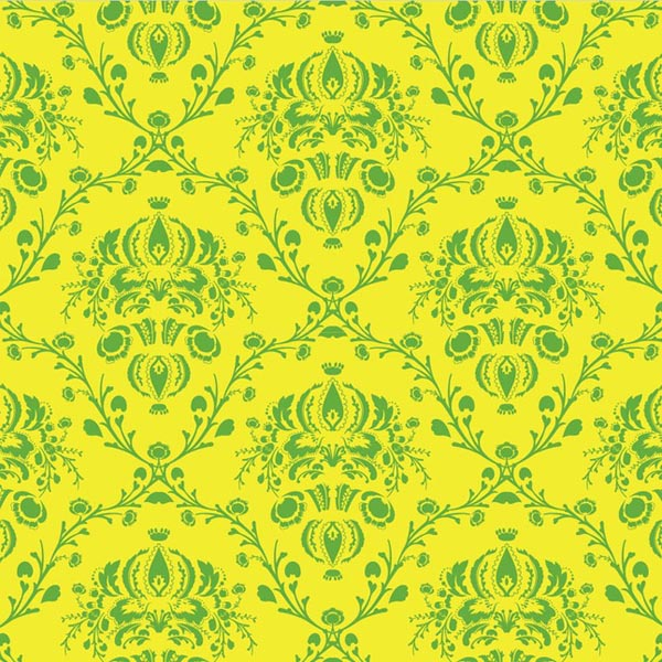 Floral Vector Pattern of Damask Graphics
