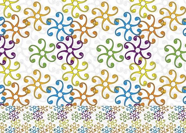 Stylized Flower Pattern Vector Graphic by illustratorcs6