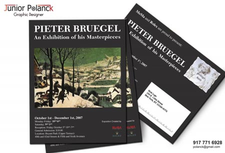 Pieter Bruegel Postcard by Junior Polanck