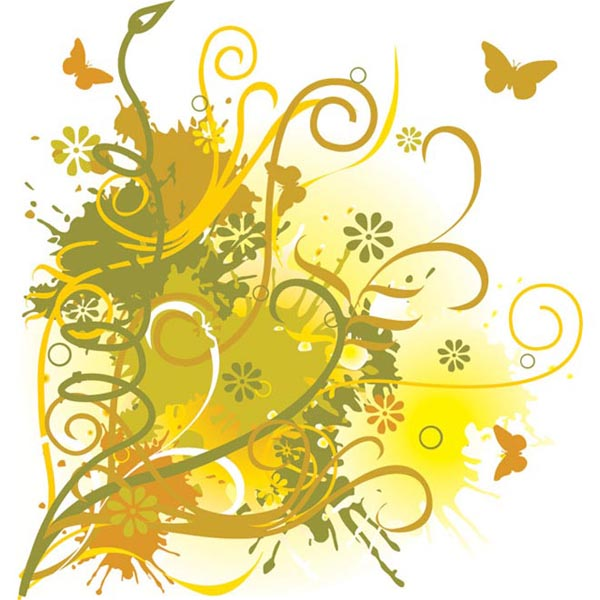 Cute Yellow Grunge Background by cgvector