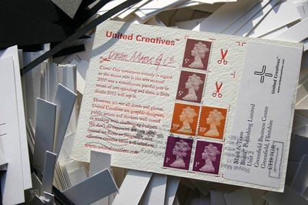 Letterpress Postcard by blush
