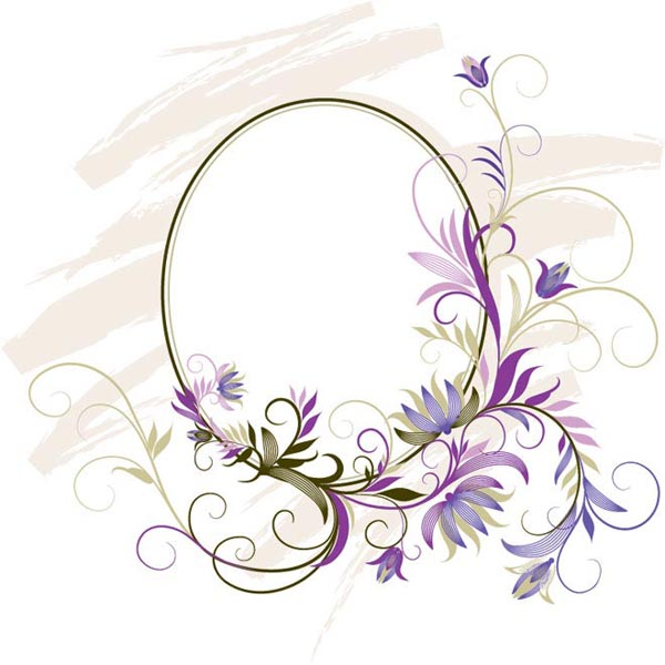 Purple Mirror Frame Vector Art by cgvector