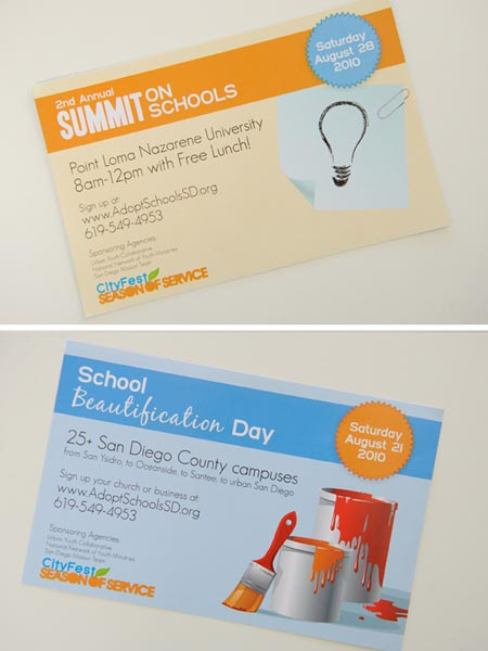 Season of Service Promotional Postcard by Phoebe Street Creative
