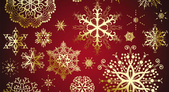 Beautiful Snowflake Vector Templates