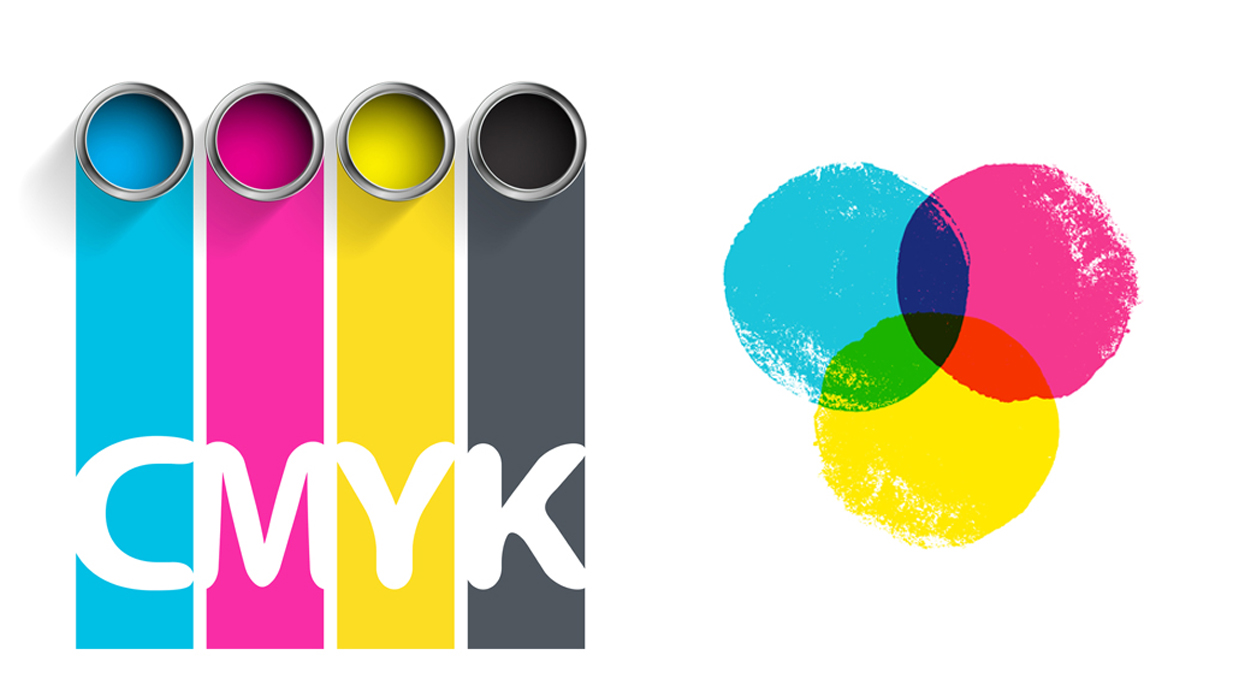 RGB vs CMYK illustration