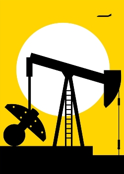 Texas Oil Well Greeting Card by Silas Tom