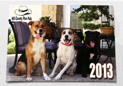 Hill County Paw Pals Calendar Printing Fundraiser