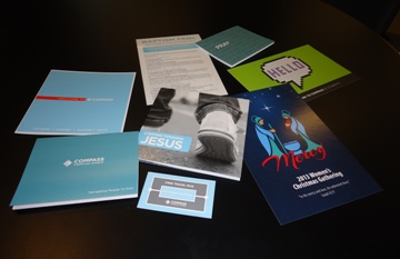 Compass Church Envelopes and Brochures