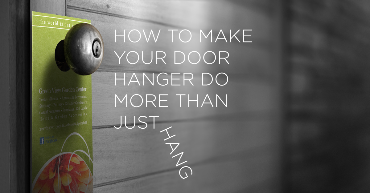& How to make your door hanger do more than just hang | PrintPlace