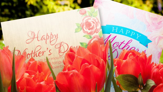 Mothers Day cards in the park