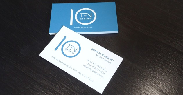 10 Med Spa - Business Cards