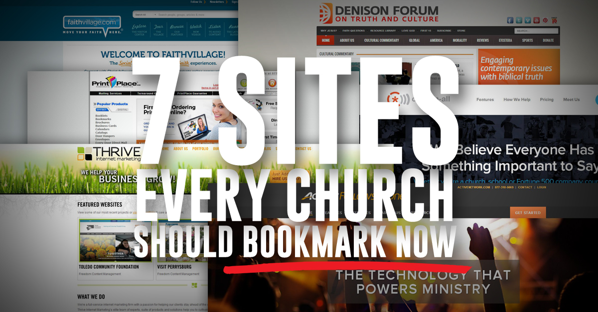 7 church website resources - Church Website Design Ideas