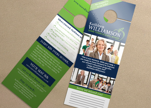 Door Hanger - Basic Green Apple Id#5726 | Printplace