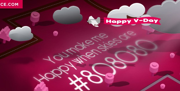Valentine's Day Graphic Design Facebook Cover