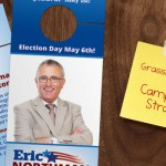 Grassroots 101:  How to build a comprehensive, bottom up, campaign strategy by using Door Hangers