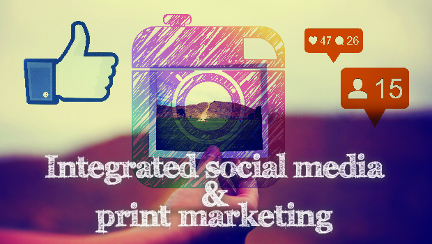 Integrated social media and print marketing