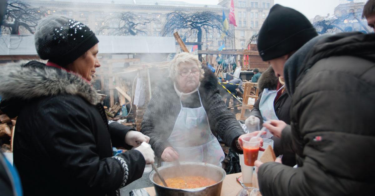 Nonprofit organization distributing food