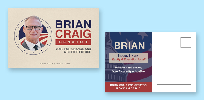 political postcard for campaigns