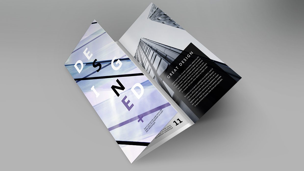 Minimalist brochure example with urban motif