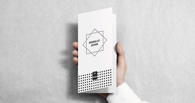 Minimalist brochure example
