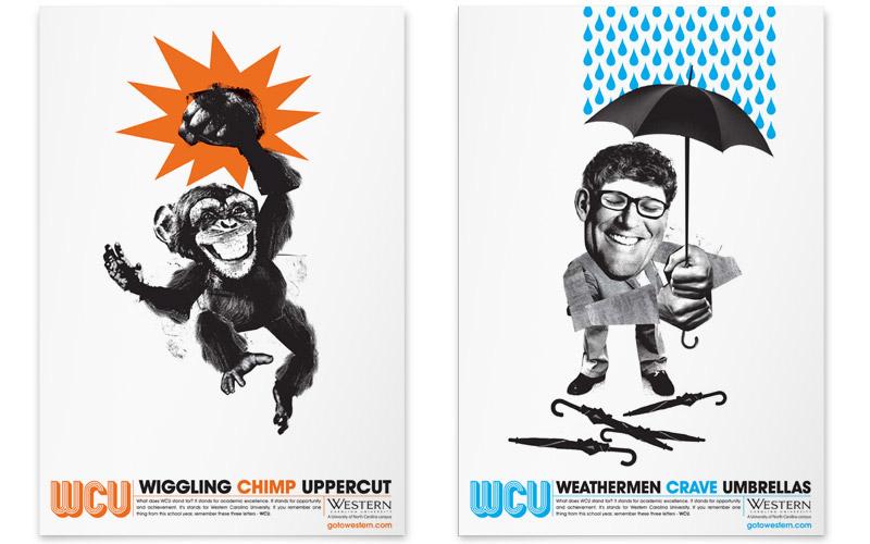 Western Carolina University poster with puns