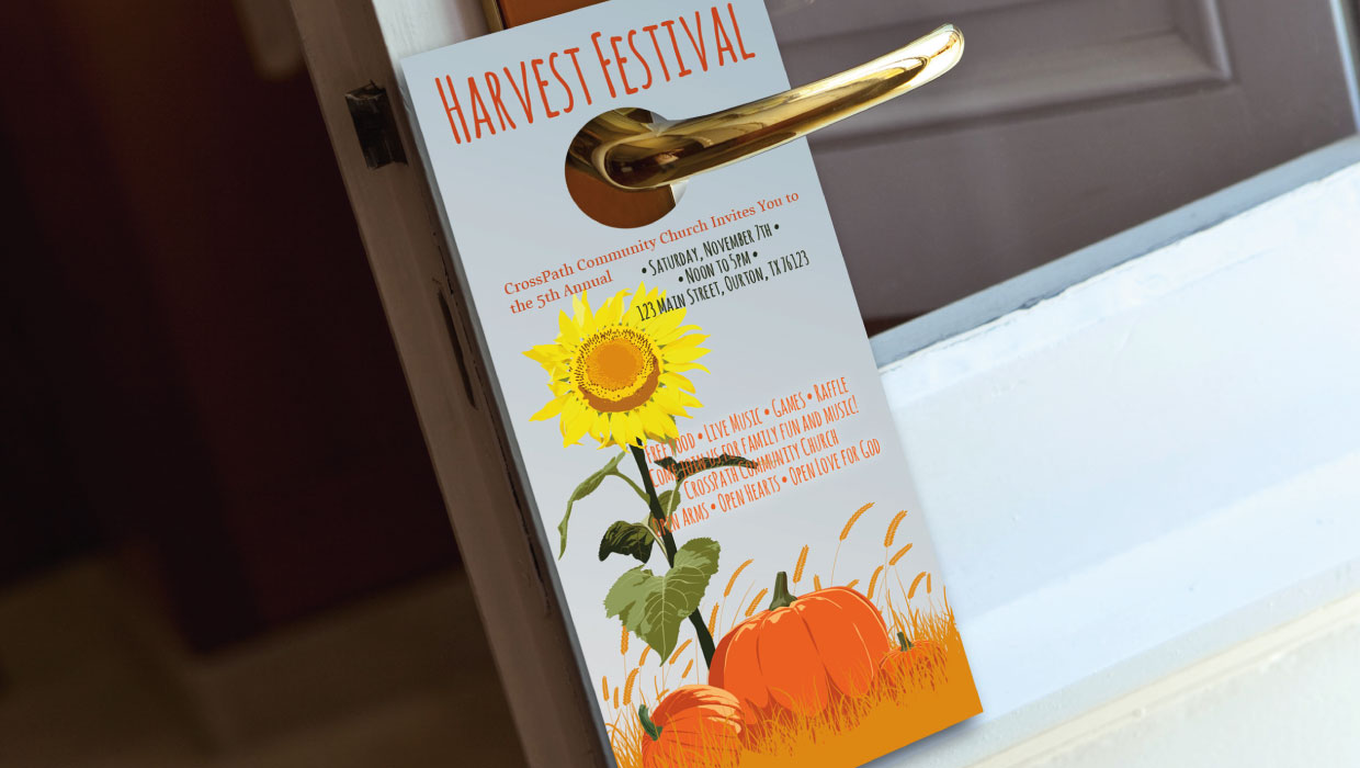 Church Fall Festival Door Hanger