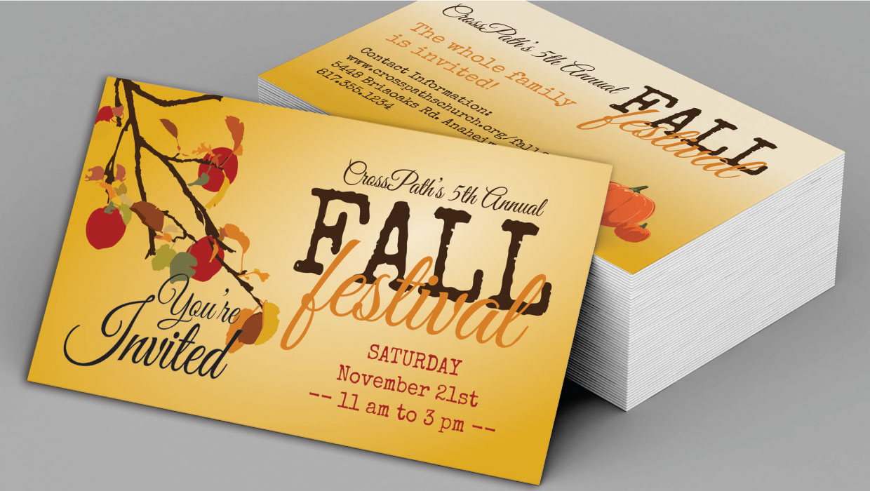 Fall Church Invite Card