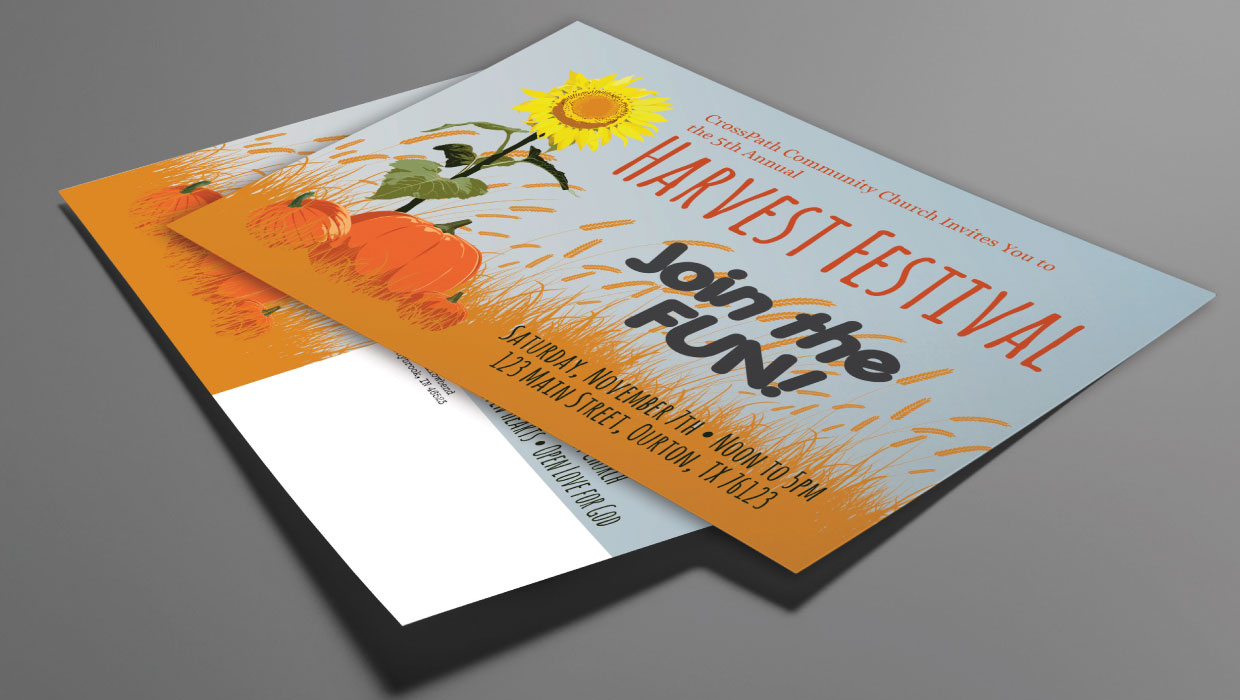 Church Fall Festival Postcard