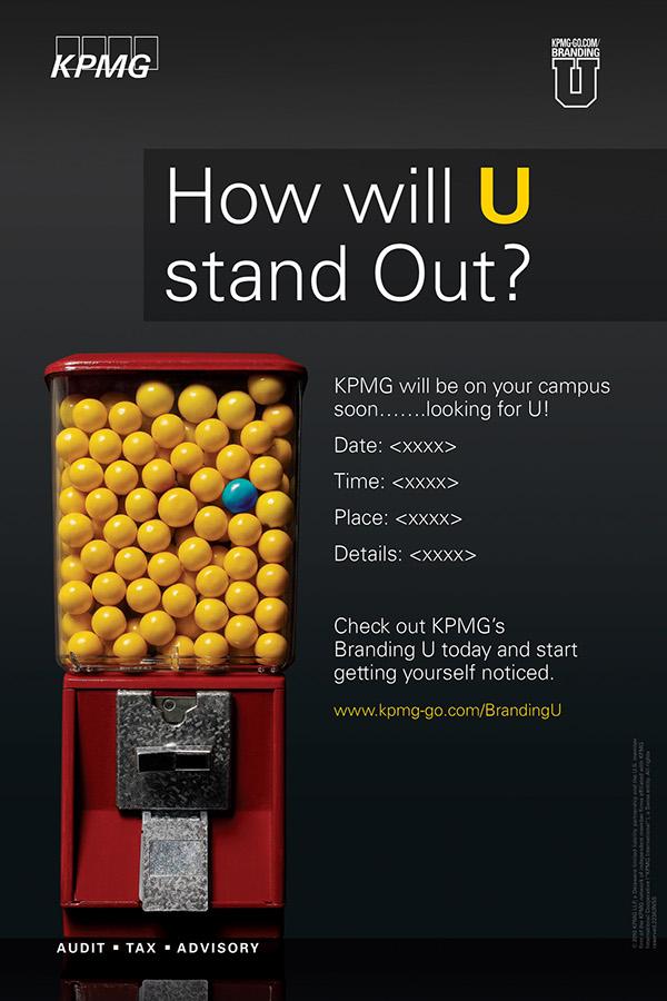 KPMG Branding U poster