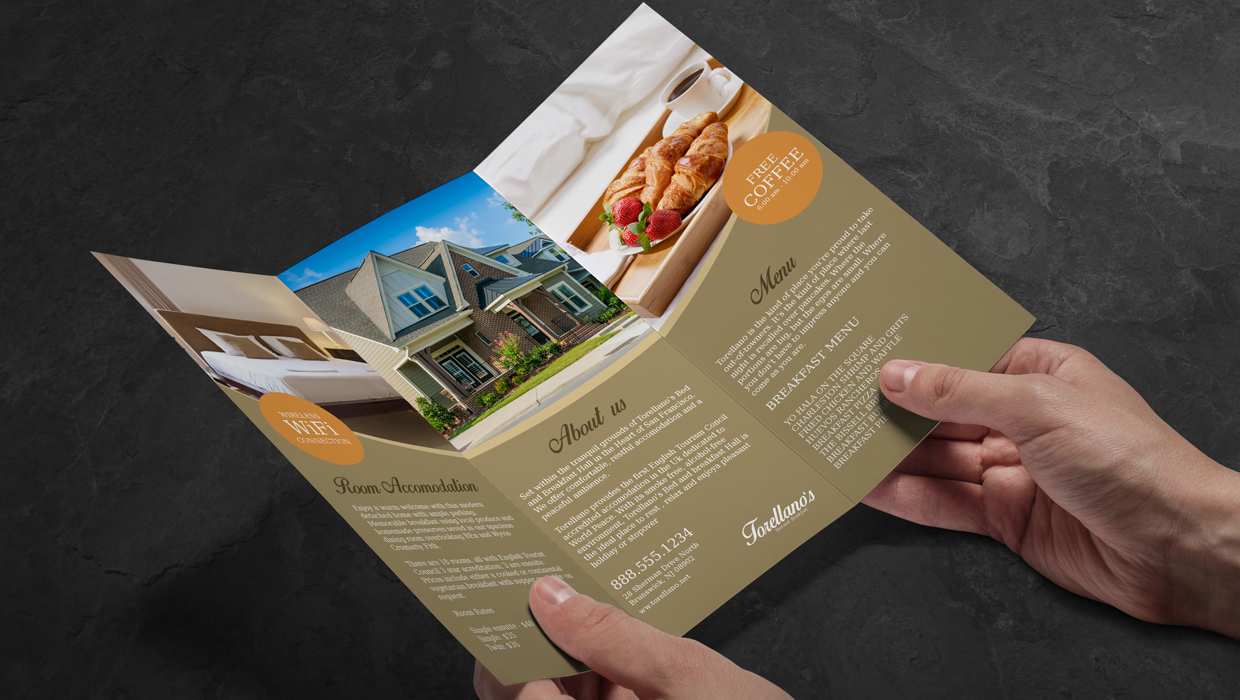 bed and breakfast brochure