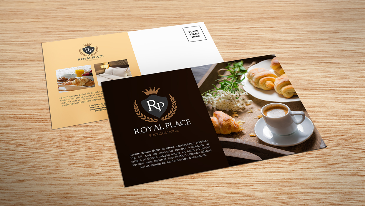 bed and breakfast direct mail postcards