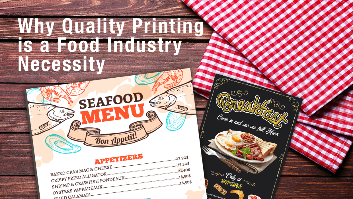 quality printing example - menu