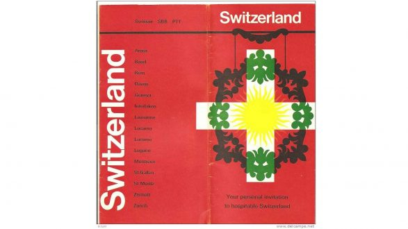 Vintage Swiss tourism brochure